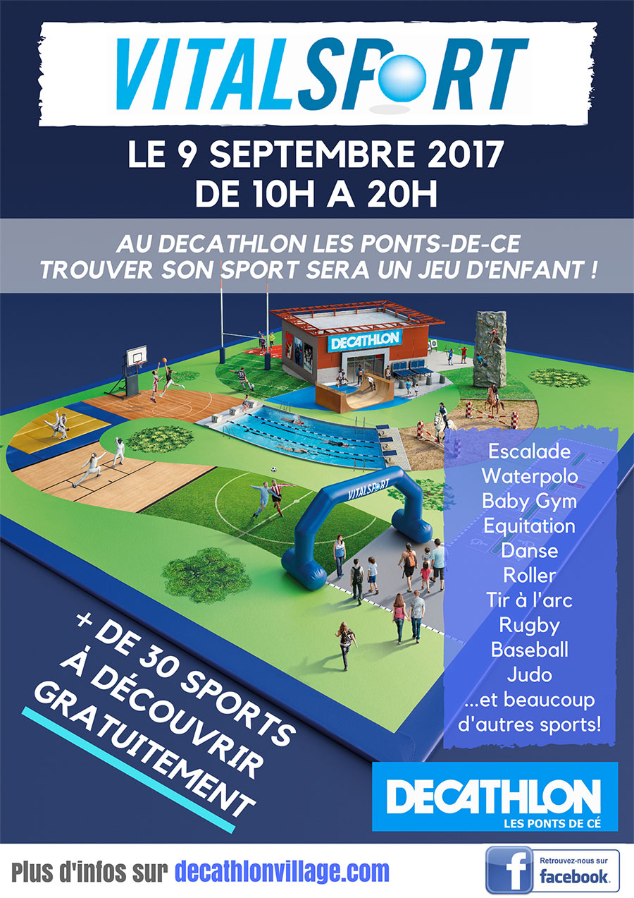 vitalsport decathlon les ponts de cé 2017